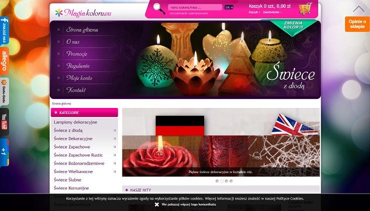 sklep internetowy ze świecami