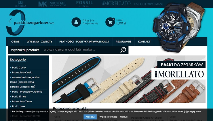 sklep internetowy z paskami do zegarków